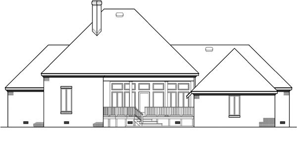 House Plan 65946 Rear Elevation
