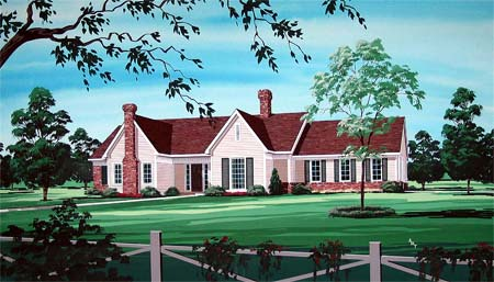 House Plan 65948 Elevation