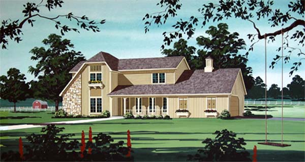 House Plan 65952 Elevation