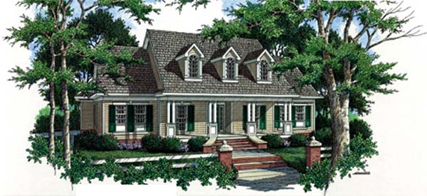 House Plan 65953 Elevation