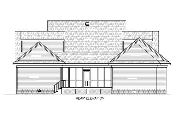 House Plan 65953 Rear Elevation