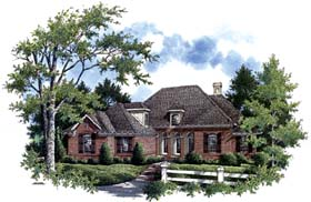 Traditional , Country House Plan 65954 with 3 Beds, 3 Baths, 3 Car Garage Elevation