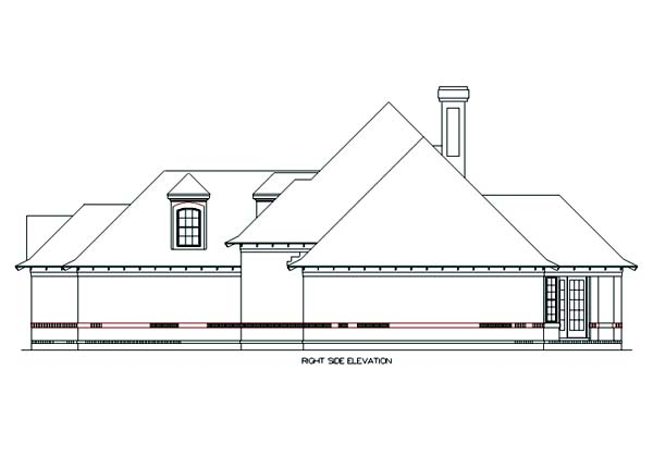 Country, Traditional House Plan 65954 with 3 Beds, 3 Baths, 3 Car Garage Picture 2