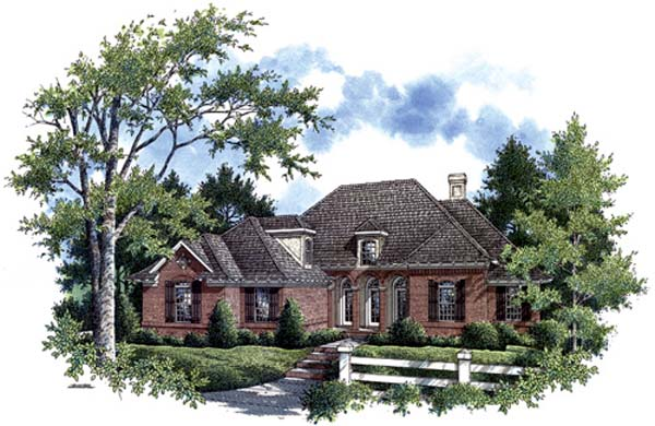 Country Traditional House Plan 65955 Elevation