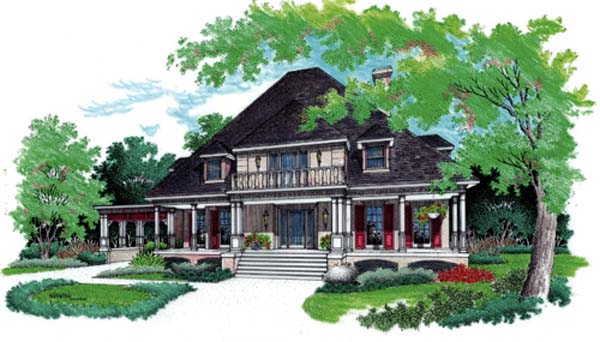 Traditional House Plan 65956 Elevation