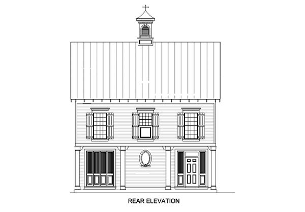 Coastal House Plan 65957 Rear Elevation