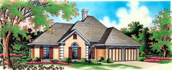 House Plan 65958 Elevation