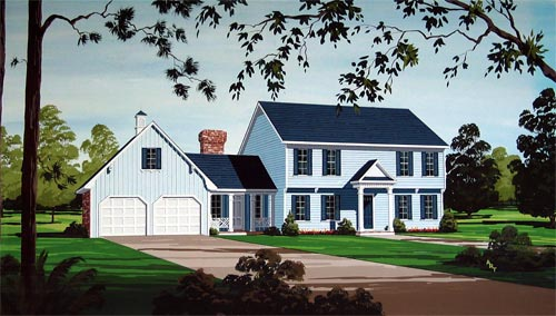 Traditional House Plan 65959 Elevation