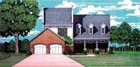 House Plan 65960 | Style Plan with 2459 Sq Ft, 3 Bedrooms, 3 Bathrooms, 2 Car Garage Elevation