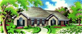 Colonial Country European House Plan 65961 Elevation