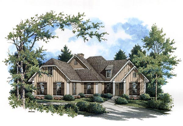Country Craftsman Southern Traditional House Plan 65962 Elevation