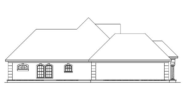 European, Mediterranean House Plan 65964 with 3 Beds, 3 Baths, 2 Car Garage Picture 1