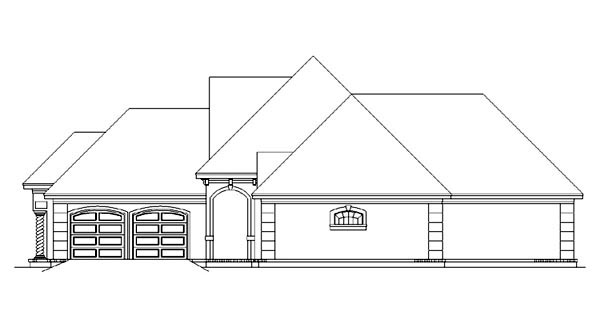 European, Mediterranean House Plan 65964 with 3 Beds, 3 Baths, 2 Car Garage Picture 2