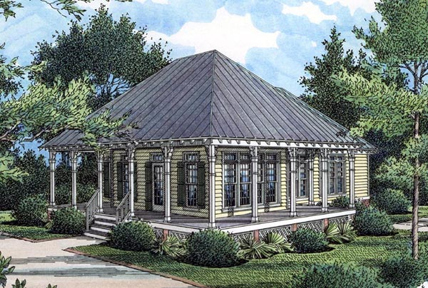 Cottage Country Southern House Plan 65966 Elevation