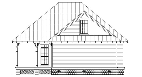 Cottage Country Southern House Plan 65966 Rear Elevation