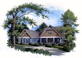 House Plan 65967 | Country Craftsman Farmhouse Southern Traditional Style Plan with 2643 Sq Ft, 3 Bedrooms, 3 Bathrooms, 2 Car Garage Elevation