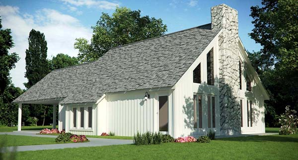 Contemporary House Plan 65968 Elevation