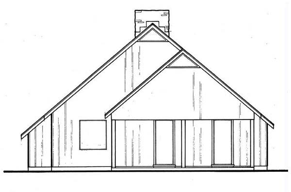 Contemporary House Plan 65968 Rear Elevation