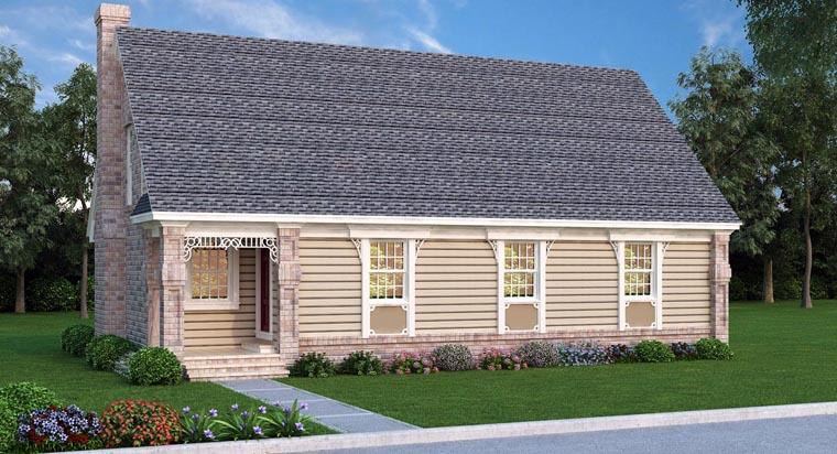 House Plan 65969 Elevation