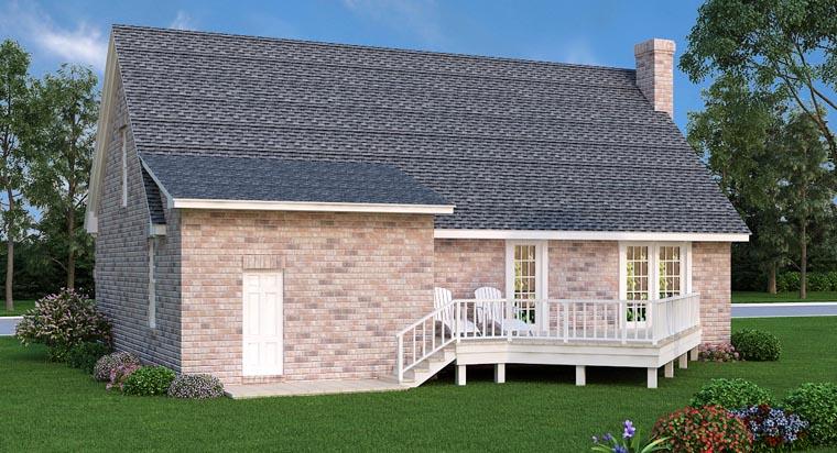 House Plan 65969 Rear Elevation