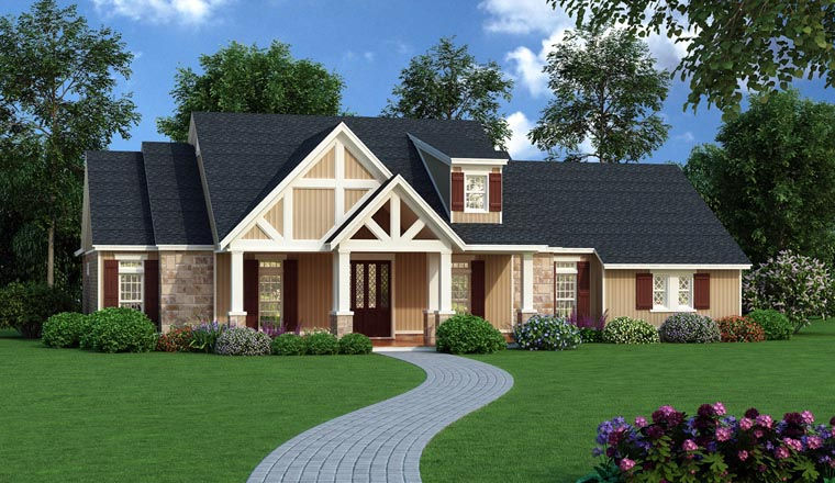 Craftsman House Plan 65970 Elevation