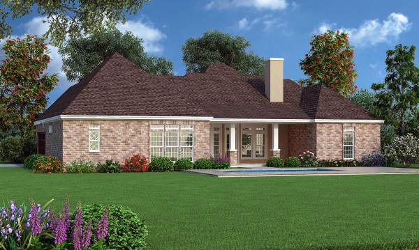 Traditional House Plan 65971 Rear Elevation