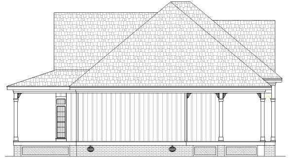 Farmhouse Southern House Plan 65973