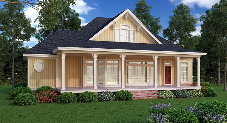 Farmhouse Southern House Plan 65973 Rear Elevation
