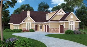 House Plan 65974 | Traditional Style Plan with 2500 Sq Ft, 4 Bedrooms, 3 Bathrooms, 2 Car Garage Elevation