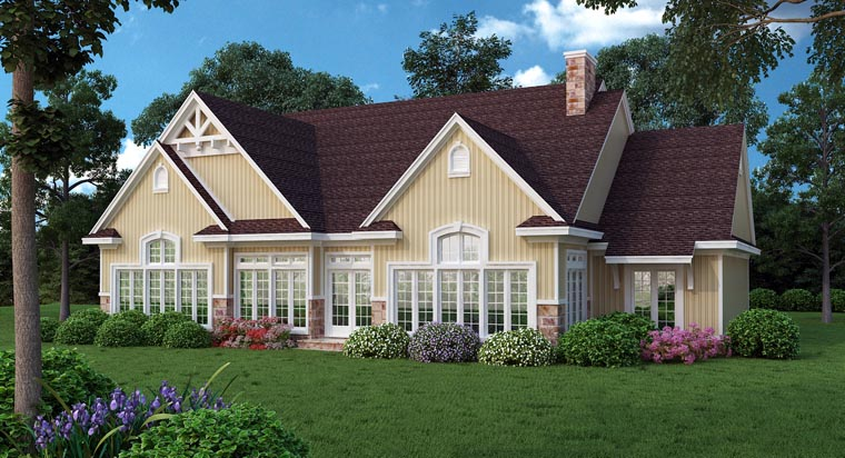 Traditional House Plan 65974 Rear Elevation