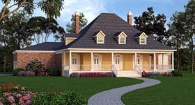 House Plan 65977 with 4 Beds, 4 Baths, 3 Car Garage Elevation