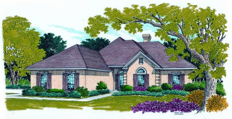 House Plan 65978 Elevation