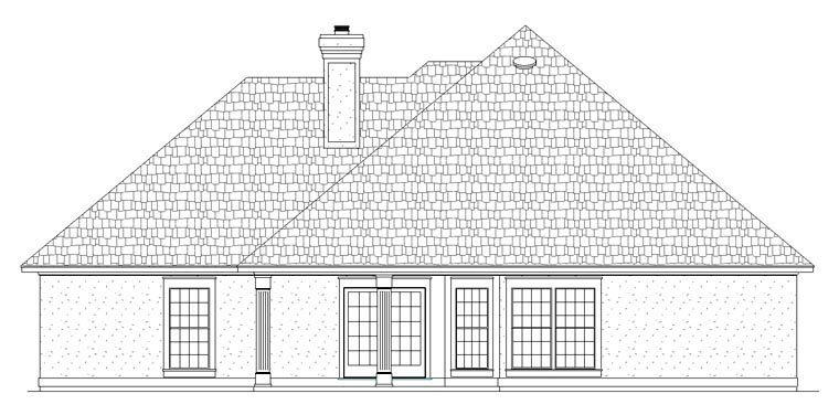 House Plan 65978 Rear Elevation