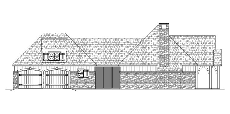Craftsman House Plan 65979 with 3 Beds, 2 Baths, 2 Car Garage Picture 1