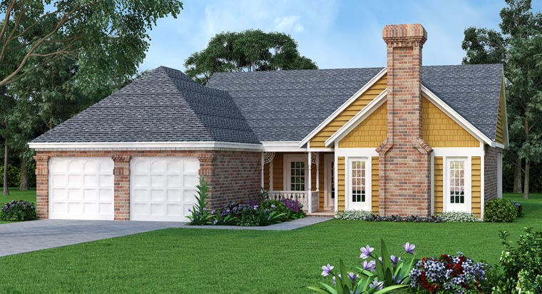 House Plan 65981 Elevation