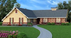 House Plan 65983 Elevation