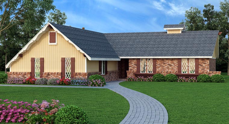 House Plan 65983 Elevation