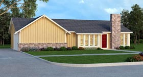 Contemporary House Plan 65984 Elevation