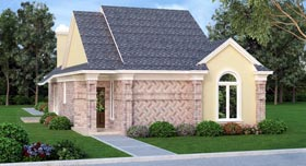 House Plan 65985 | Style Plan with 1567 Sq Ft, 2 Bedrooms, 2 Bathrooms, 2 Car Garage Elevation