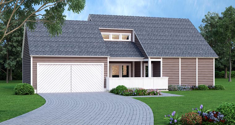 Contemporary House Plan 65987 Elevation