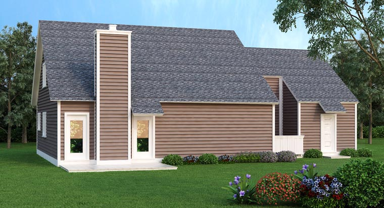 Contemporary House Plan 65987 Rear Elevation