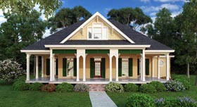 Cottage Southern House Plan 65988 Elevation