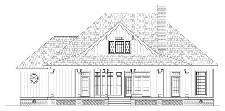 Cottage Southern House Plan 65988 Rear Elevation