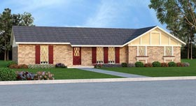 House Plan 65990 with 3 Beds, 2 Baths, 2 Car Garage Elevation