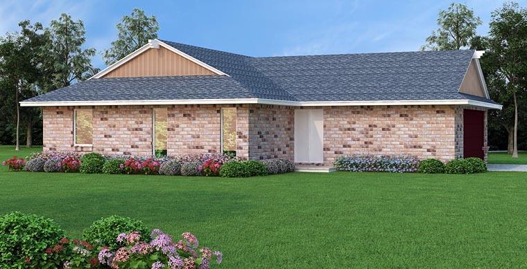 House Plan 65991 Rear Elevation