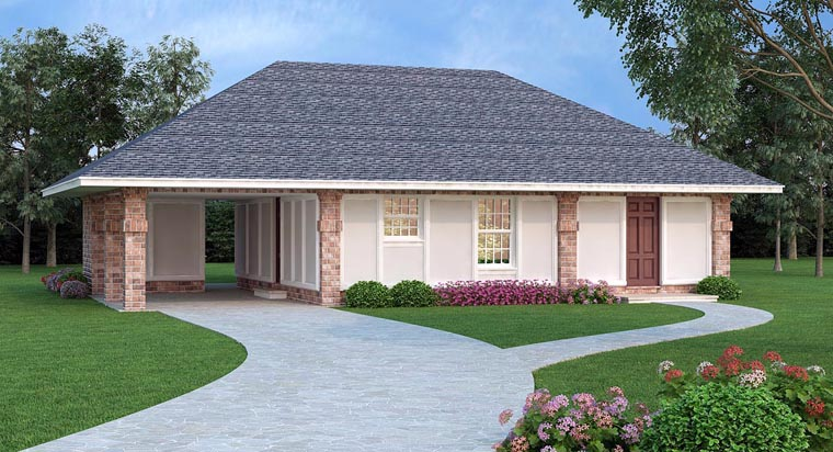 House Plan 65992 Elevation