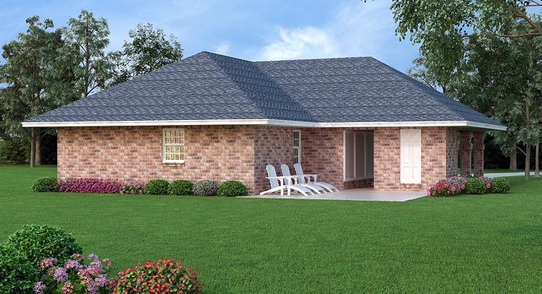 House Plan 65992 Rear Elevation