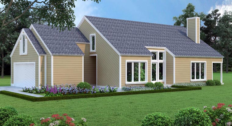 House Plan 65993 with 3 Beds, 3 Baths, 2 Car Garage Elevation
