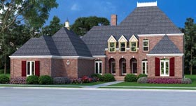 House Plan 65994 | Style Plan with 3096 Sq Ft, 4 Bedrooms, 5 Bathrooms, 2 Car Garage Elevation