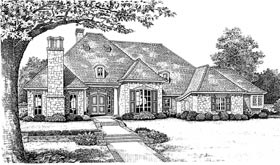 European House Plan 66000 Elevation